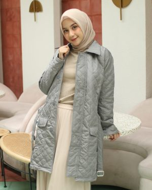 Jaket Model Baru Agnezia HJ-AGZ-GREY-XL