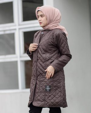 Jaket Model Baru Belva HJ-BLV-SCARLETT-BROWN-XL