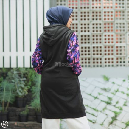 Jaket Model Baru Camouflashion HJ-CF-BLACK-PURPLE-XL