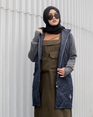 Jaket Model Baru Gracieela HJ-GRC-NAVY-XL