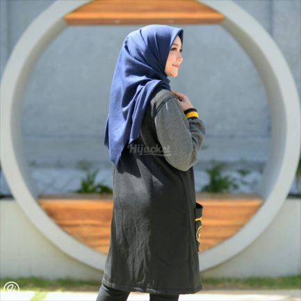 Jaket Model Baru Qadira HJ-QD-RAVEN-GREY-XL