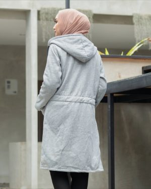 Jaket Model Baru Urbanisashion HJ-UB-SKYGREY-XXL