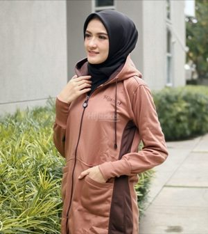 Jaket Casual Wanita Avia HJ-AVA-BROWN-XL