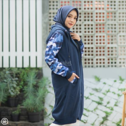 Jaket Casual Wanita Camouflashion HJ-CF-ROYAL-BLUE-XL