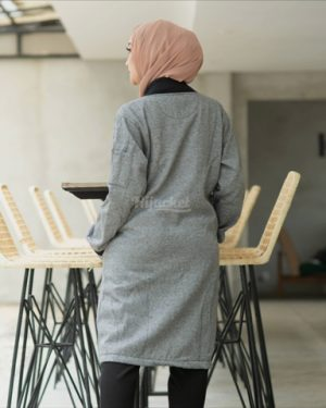 Jaket Casual Wanita twistone HJ-TW-CHARCOAL-XL
