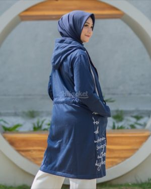 Jaket Casual Wanita Urbanisashion HJ-UB-ROYAL-BLUE-XL