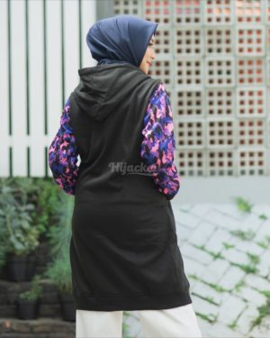 Jaket Distro Wanita Camouflashion HJ-CF-BLACK-PURPLE-XL