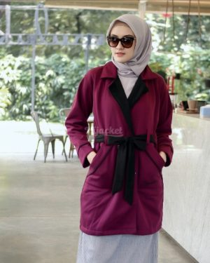 Jaket Distro Wanita Elnara HJ-ELN-PURPLE-XL