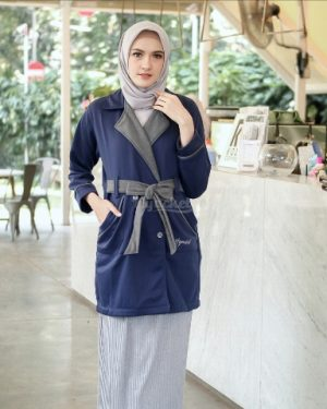 Jaket Distro Wanita Elnara HJ-ELN-ROYAL-BLUE-XL