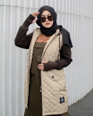 Jaket Distro Wanita Gracieela HJ-GRC-CREAM-XL