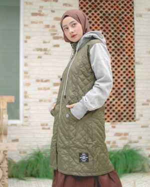 Jaket Distro Wanita Gracieela HJ-GRC-GREEN-XL