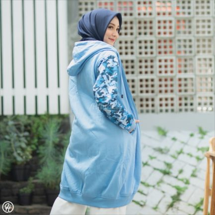Jaket Hijabers Camouflashion HJ-CF-SKY-BLUE-XL